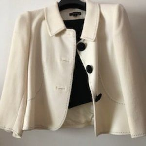 Tahari black and white suit